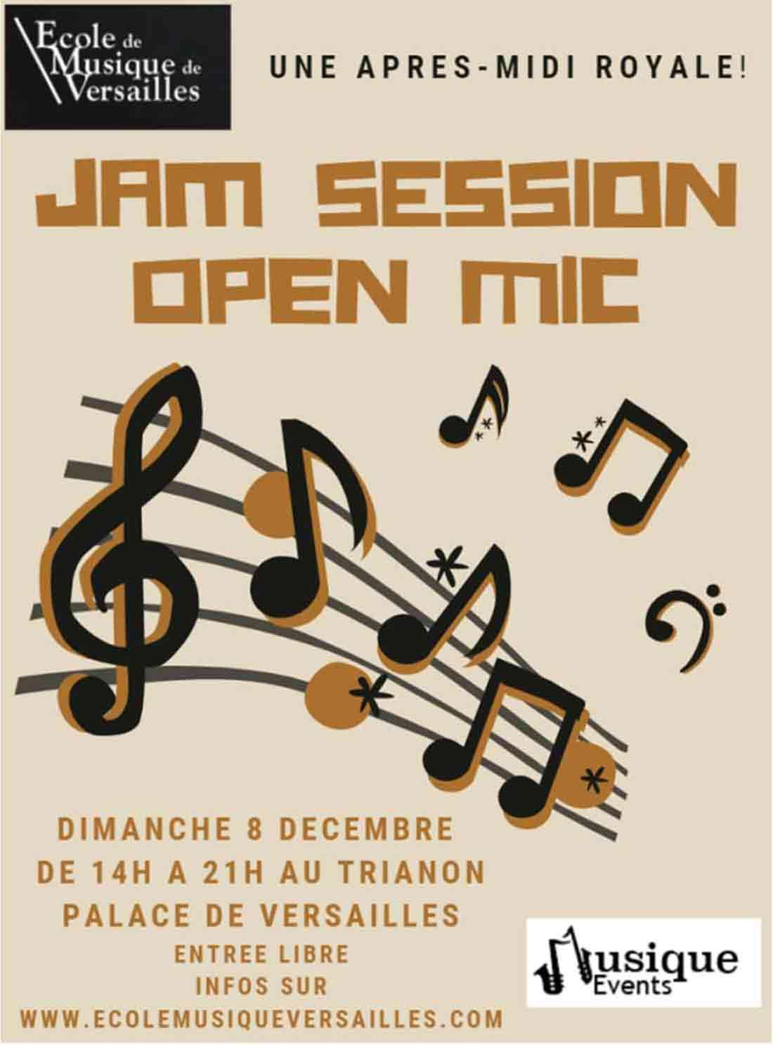 Jam Session Versailles 8 décembre 2019